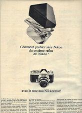 PUBLICITE 1966  NIKON  appareil photo le nouveau NIKKORMAT