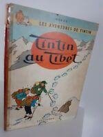 Bd 1960 Tintin A Tibet Hergé Casterman Mochila Lienzo Rojo Impreso En Bélgica E