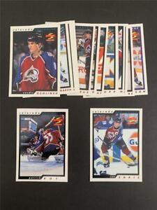 1996/97 Score Colorado Avalanche Team Set 14 Cards