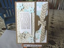 SENDING GOOD THOUGHTS YOUR WAY HANDMADE GREETING CARD ~STAMPIN UP emc#71