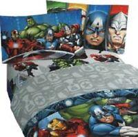 New Marvel Avengers Full Size Bed Sheet Set 4 Piece Superhero Bedding