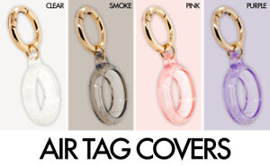 For Apple AirTag Case Keychain Key Ring Tracker Collar Protective TPU Cover Pack