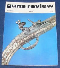 GUNS REVIEW MAGAZINE MARCH 1975 - THE PEABODY CONTROVERSY/A POLISH AIR PISTOL