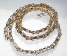 LO364 TENNIS uomo o donna Diamante simulato Collana Catena di 36 pollici 18KT