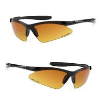 168e79653274f HD Driving Wrap Sunglasses Golf Vision Blue Blocker Lens High Definition  BLACK g