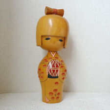 Vintage Girl playing in Ball Kokeshi wooden doll 10inch