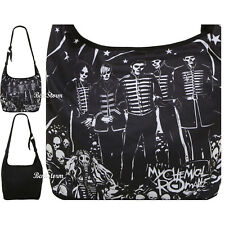 My Chemical Romance Black Parade Skeletons Hobo Bag Purse Tote Crossbody NWT