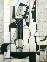 JUAN GRIS STILL LIFE WITH GUITAR OLD MASTER ART PAINTING PRINT POSTER 1769OMB