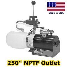 Hydraulic DC Power Unit - Manual 3 Way Valve - 1.36 Qt - Pump, Motor, Reservoir