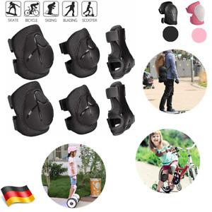6tlg Protektoren Kinder Schutzausrüstung Set Schützer Schoner Inliner Skater NEU