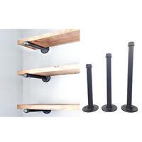 3 Size Iron Industrial Pipe Shelf Bracket Wall Mount Holder Steampunk Decor
