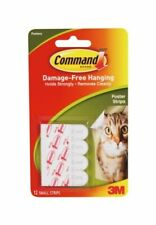 3M 17024 Command Adhesive Poster 12 Strips - White