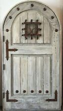 Rustic reclaimed solid Doug Fir door speakeasy you choose dimension storybook