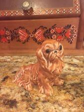 Pretty Vintage Porcelain Pekingese Dog Figurine, Marked 75.609