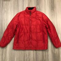 Ptarmigan Womens Large Red Down Fill Zip Up Puffer Jacket