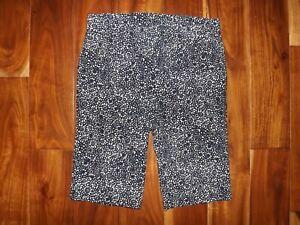 RAFAELLA Dark Lapiz Blue Dressy Bermuda Shorts 8 $43 NEW Comfort Stretch