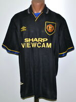 MANCHESTER UNITED 1993/1994/1995 AWAY FOOTBALL SHIRT JERSEY UMBRO SIZE XL ADULT