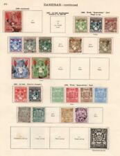ZANZIBAR: 1895-1904 Examples - Ex-Old Time Collection - 2 Sides Page (33112)