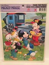 VTG Walt Disney's Mickey Mouse Frame Tray Puzzle By Golden 1983 Made In Canada