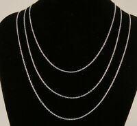 """16"""" to 24"""" Silver Plated Fine Curb Chain 1mm Mens Womens Necklace 40 to 60 cm"""