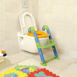 KidsSeat 3-in-1 Foldable Toilet Trainer Potty Seat And Steps Easily Cleanable