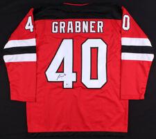 Michael Grabner Signed Devils Jersey (Beckett COA) New Jersey Right Winger