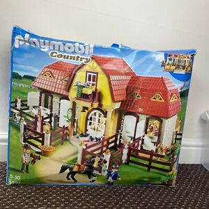 Playmobil Country 5221 - Large Horse Farm with Paddock - New With Damaged Box.