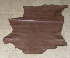 (LFE9379-1) Hide of Dark Brown Printed Lambskin Leather Hide Skin