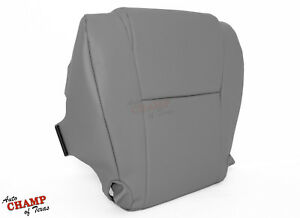 For 2007-2013 Toyota Tundra-Driver Side Bottom Replacement Vinyl Seat Cover Gray