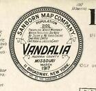 Vandalia, Missouri Sanborn Map©~sheets in color all years~11  maps on CD