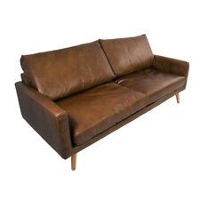 Arnum DIVANO 3 posti Design Divano in Pelle Marrone Cuba in pelle vintage mobili divano 3er