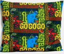 Toddler Pillow for Sesame Street & Footballs on Green 100%Cotton Ss12 Handmade