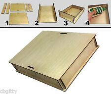 """9 x 12"""" Acoustic Wooden Box Kit - Easy to Assemble & great for Cigar Box Guitars"""