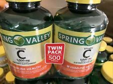 2 Pack Spring Valley Vitamin C 250 Tablets with Rose Hips - 1000 mg Exp 2022