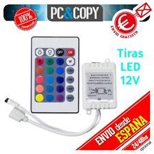R1109 Controlador tiras LED RGB 12V mando IR 24 botones impermeable IP65