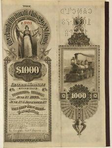 Cleveland Cincinnati Chicago St. Louis Railway > 1893 Big Four bond certificate