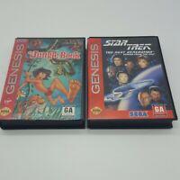 Lot of 2 Sega Genesis Games The Jungle Book, Star Trek The Next Generation