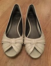 Marks and Spencer Patternless Wedge Peep Toe Heels for Women