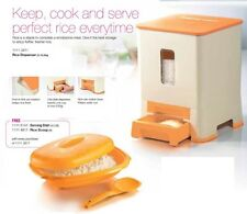 New Tupperware Rice Dispenser (1) 10.5kg Free Serving Dish (1) Serving Spoon (1)