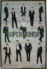 "SUPER JUNIOR ""CUTOUTS OF BAND IN SUITS"" POSTER - Korean K-Pop Music, Boy Band"
