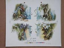 Andruck Steindruck 251 Lithographie Punktmanier 12 Farben und Farbkeile,um 1910