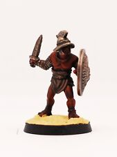 28mm Painted Gladiator Miniature armed with sword and shield. Foundry miniatures