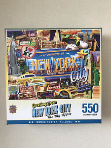 MasterPieces Greetings From - New York 550 Piece Jigsaw Puzzle