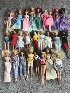 lot of 26 modern Barbie dolls with clothes disney dolls too