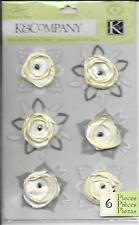 K&Co Elegance Satin Flower Fabric Art Vanilla Embellishments