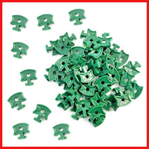 100 Pcs Greenhouse Plastic Shading Clips Fixing Twist Clips for Aluminium Bubble