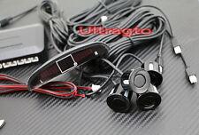 Universal Car Black Parking Sensor LED Display Reverse Backup Kit Buzzer System
