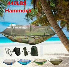 Camping Double Hammock with Mosquito Net Tent Hanging Bed Swing Chair Outdoor