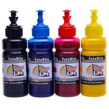 4 x 100ml Non Oem pigment ink refills for Epson WF-7620DTWF,WF-7710DWF,WF-7715DW
