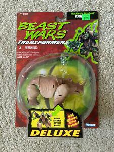 Transformers Beast Wars Deluxe RHINOX Kenner Hasbro 1995 Mint Great Shape Card